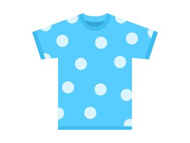 夏のTシャツのイラスト