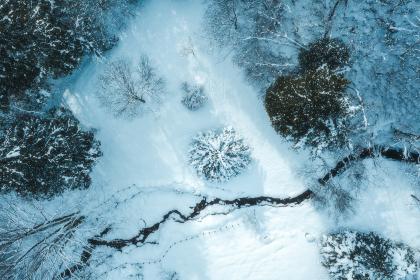 冬の山景色