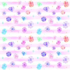 宝石のシームレスな背景パターン。水彩風縞模様。