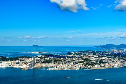 風師山展望台から眺める関門海峡の眺め(福岡県、山口県)