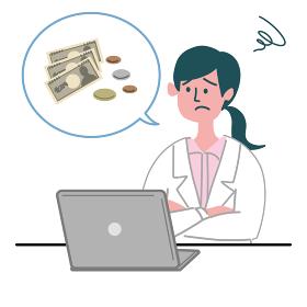 医師 医者 女性 パソコン お金 困っている