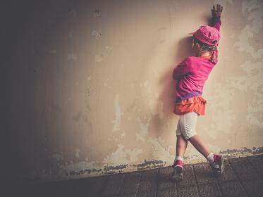 Girl practising dance moves