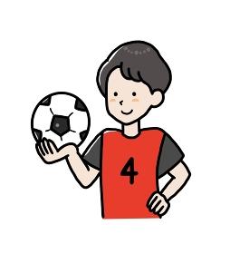 サッカー部の男子大学生のイラスト