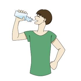 水分補給 コップ 男性