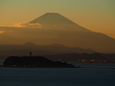逗子大崎公園から富士山を望む