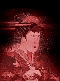 浮世絵 歌舞伎役者 女性 その1 ホログラムバージョン