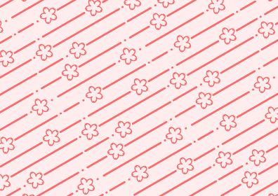 桜柄の背景イラスト