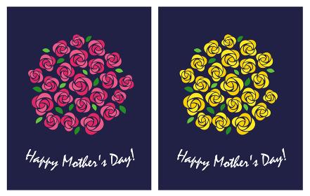 母の日 バラのイラスト 花束セット