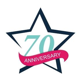 Template Logo 70 Anniversary Vector Illustration EPS10. Template Logo 70 Anniversary Vector Illustration