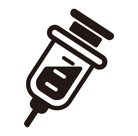注射器 ベクターアイコン (新型コロナウイルス/COVID-19/ワクチン)