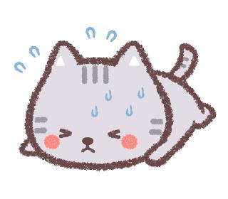 熱中症のネコ