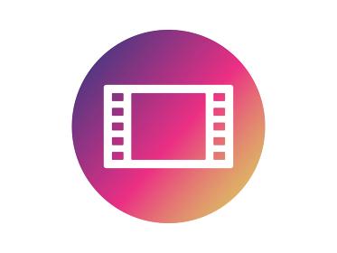 動画フレームのグラデーションアイコン