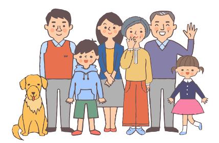 3世代家族とペット