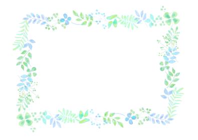 植物イメージの飾り罫