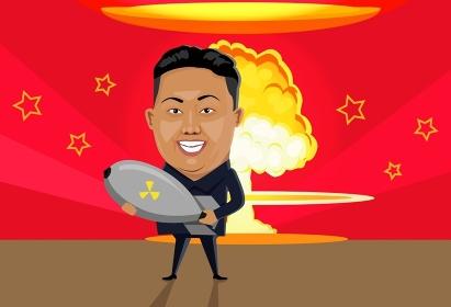 Bomb nuclear explosion design flat. Bomb danger, nuclear explosion, war nuclear, cloud mushroom atomic, energy bomb fire, armageddon bomb, power radioactive bomb, radiation bomb illustration