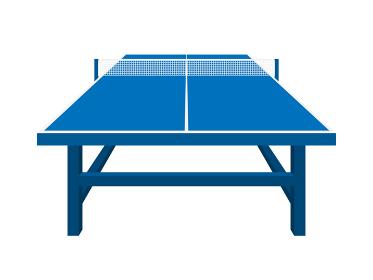 卓球台のイラスト