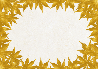 金色の紅葉のフレーム