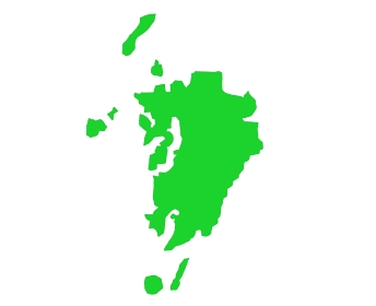 九州の地図のイラストイメージ