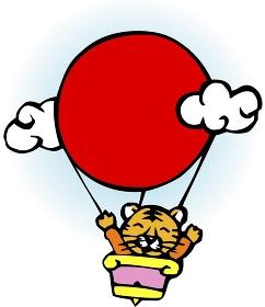熱気球に乗る寅