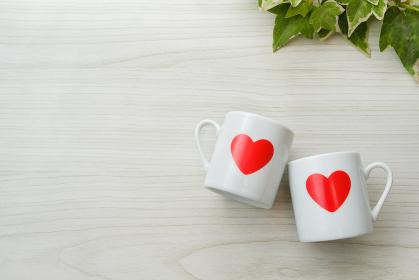 ハートのカップ カップル 結婚イメージ バレンタイン