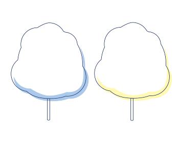 夏祭りイラスト素材 わたあめ(2色パステルカラー)