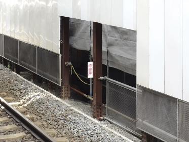 電車の高架工事