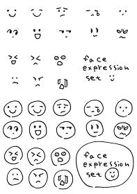 ゆるい手描き表情アイコンセット