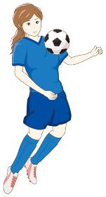 サッカーをする女性05