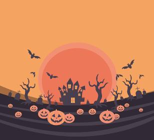ハロウィンの背景用イラスト