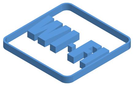 Wi-Fiの青いアイソメトリックイラスト