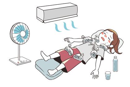 熱中症のため応急処置(女性)