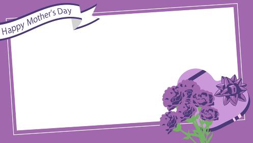 母の日 カーネーション 紫 プレゼント リボン フレーム