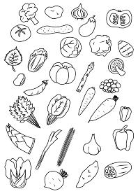 野菜のアイコンセット