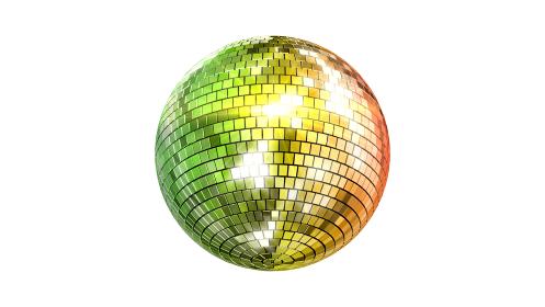 ミラーボール ディスコ クラブ ダンス キラキラ 3D イラスト 背景 バック
