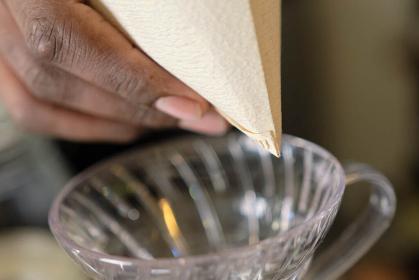 コーヒーの入れ方4:ペーパーフィルターの理想的な先端