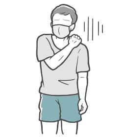 マスク 肩こり 中年男性