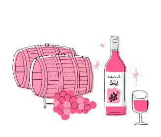 ワイン樽とワイン