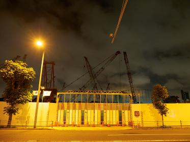 新国立競技場 建設中 夜景 2017年6月撮影