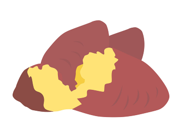 サツマイモの焼き芋のイラスト