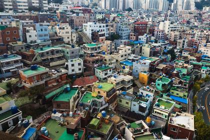 Busan, South Korea, 29 October 2013:- Busan residential district