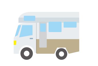 シンプルな自動車のアイコン_イラスト_キャンピングカーアウトドア乗用車Car icon