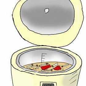 栗入り炊き込みご飯-2  野菜と一緒に炊き込み