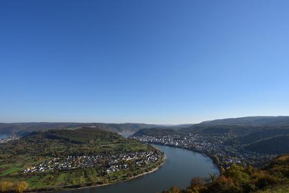 ライン川、大蛇行、ボッパルト、ドイツ