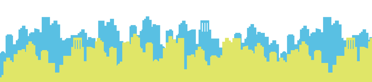 新緑の街並みのイラスト