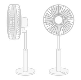 扇風機 二台セット 正面と側面