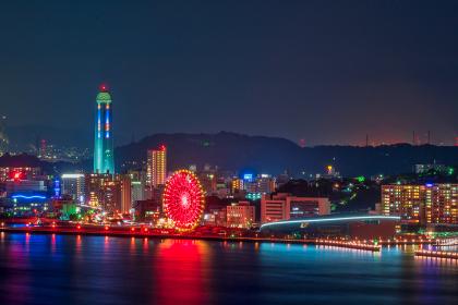 和布刈公園第二展望台から見る下関の観光地夜景