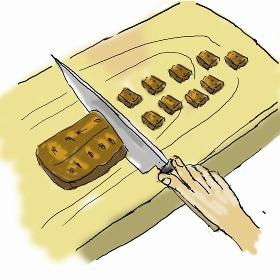 ひつまぶしを作る  鰻を刻む