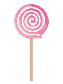 ピンク色のうずまきのペロペロキャンディー