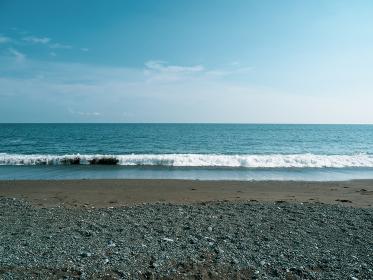 神奈川県大磯のこゆるぎの浜の風景
