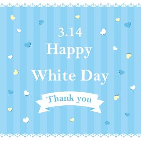 ホワイトデー カード ポスター 壁紙 正方形